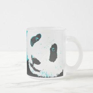 panda love. frosted glass mug