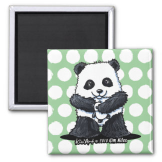 Panda Love Square Magnet
