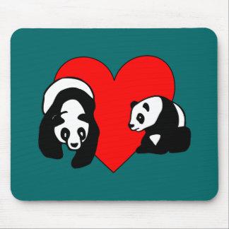 Panda Love Mouse Pads