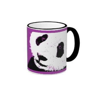 panda love. ringer mug