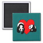 Panda Love Refrigerator Magnet