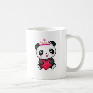 Panda Lover Fan Gift Valentine's Day Heart Present Basic White Mug