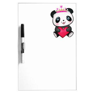 Panda Lover Fan Gift Valentine's Day Heart Present Dry Erase Board