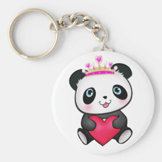 Panda Lover Fan Gift Valentine's Day Heart Present Key Ring
