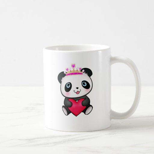 Panda Lover Fan Gift Valentine's Day Heart Present Coffee Mugs