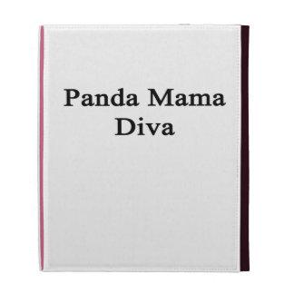 Panda Mama Diva iPad Folio Covers