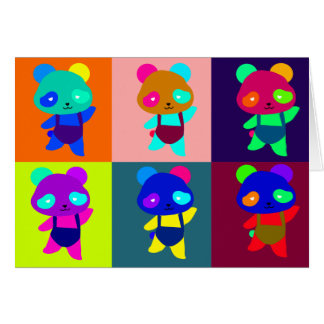 panda marilyn pop art card