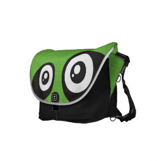 Panda Messenger Bags  ( Green )