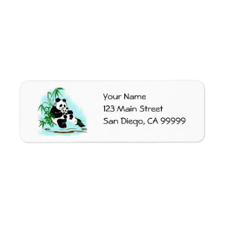 Panda Momma and Baby Return Address Label