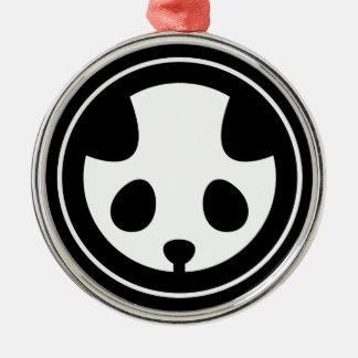 Panda mon Silver-Colored round decoration