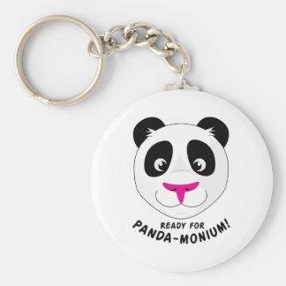 Panda-Monium Key Chain