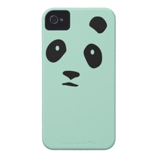 Panda Monium MINT GREEN iPHONE CASE