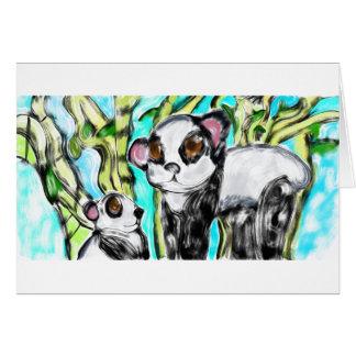 Panda mother and cub card