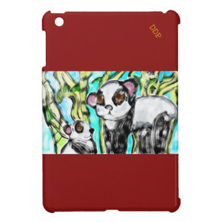 Panda mother and cub case for the iPad mini