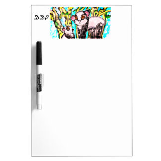Panda mother and cub dry erase board