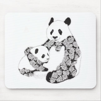 Panda Mother & Baby Cub Mouse Pad
