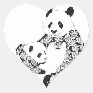 Panda Mother & Baby Cub Sticker