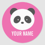 Panda name stickers