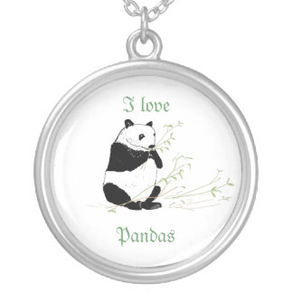 Panda necklace and I Love Pandas