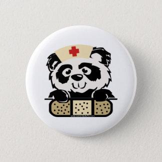 Panda Nurse 6 Cm Round Badge