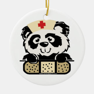 Panda Nurse Christmas Ornament