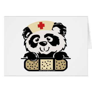 Panda Nurse Greeting Card