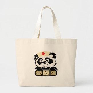 Panda Nurse Large Tote Bag