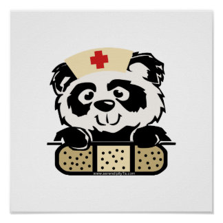 Panda Nurse Posters