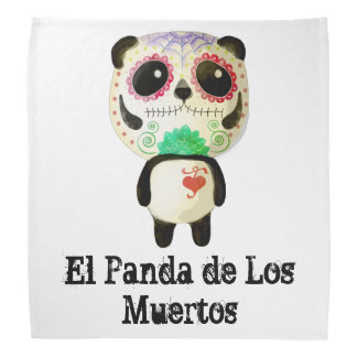 Panda of The Day of The Dead Bandana