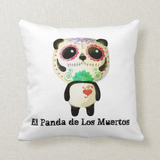 Panda of The Day of The Dead Cushion