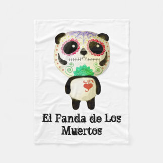 Panda of The Day of The Dead Fleece Blanket