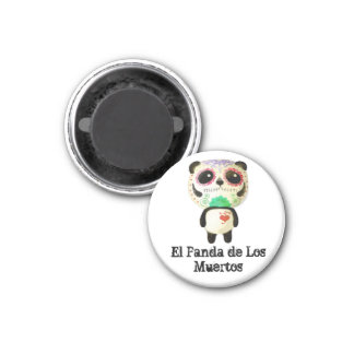 Panda of The Day of The Dead Magnet