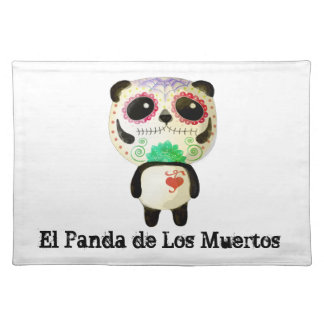 Panda of The Day of The Dead Placemat