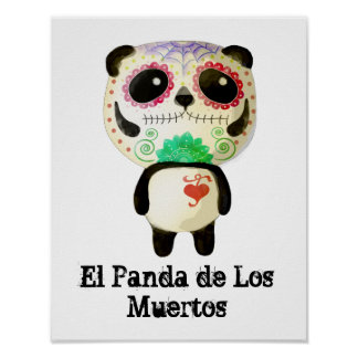 Panda of The Day of The Dead Poster
