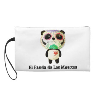 Panda of The Day of The Dead Wristlet Clutch