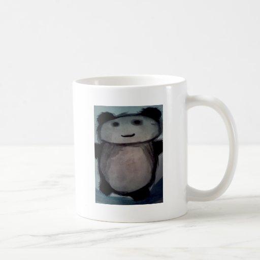 Panda on watercolour mug