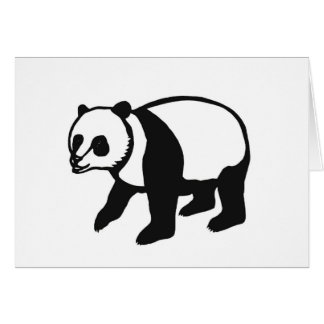 Panda PANDA cutting picture Card