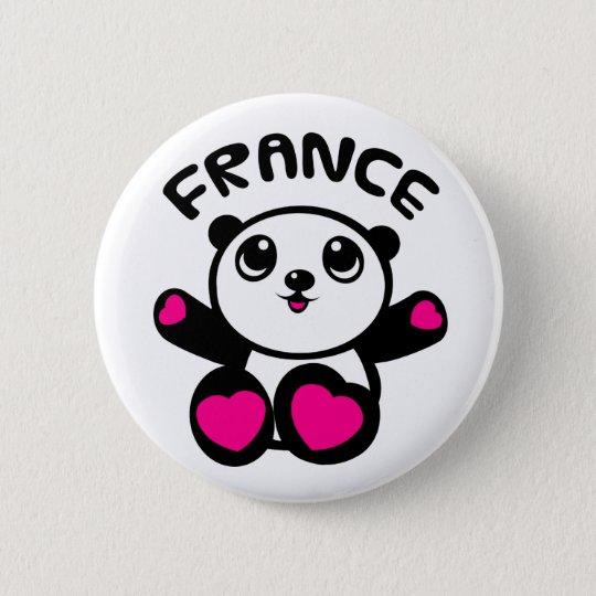 Panda Panda France 6 Cm Round Badge