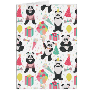 Panda Party - Birthday Pattern Card