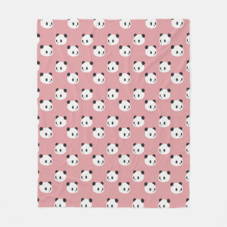 Panda Pattern Fleece Blanket