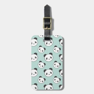 Panda patterned luggage tag