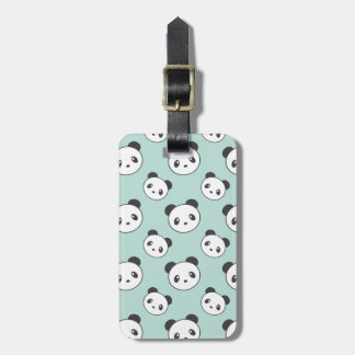 Panda patterned luggage tag