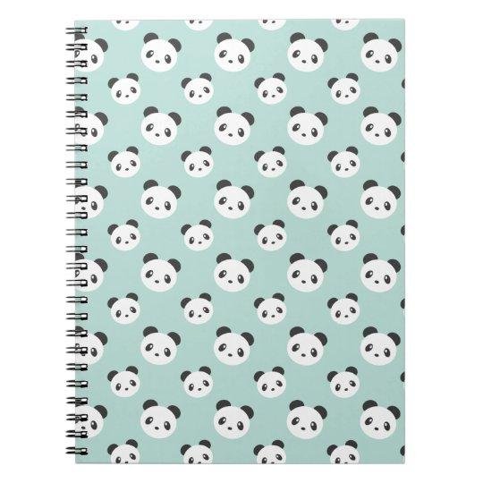 Panda patterned notebook