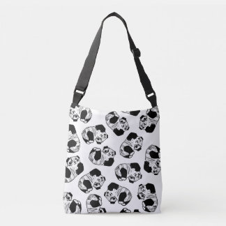 Panda Play All-Over-Print Cross Body Bag Tote Bag