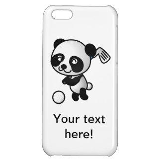 Panda playing golf cartoon iPhone 5C covers