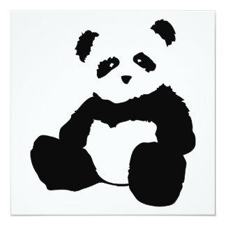 panda plush 13 cm x 13 cm square invitation card