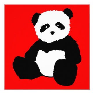 panda plush : color customizable custom invitations