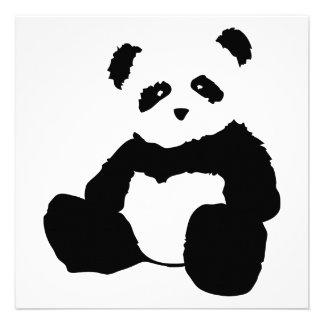 panda plush custom invites