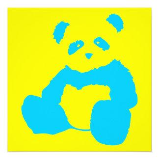 panda plush personalized invitation