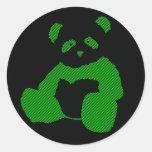 panda plush. sticker